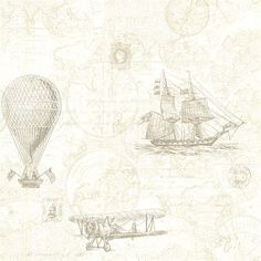 Explorer Khaki Antique Map