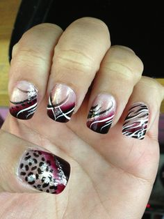 Probably do that one like the pinky (: crazy nail art, pretty nail art, cra Crazy Nail Art, Crazy Nails, Pretty Nail Art, Fancy Nails, Diy Nails, Cute Nails, Nail Art Designs 2016, Crazy Nail Designs, Simple Nail Art Designs