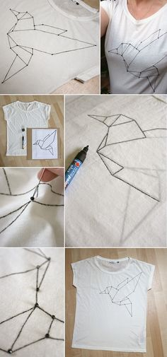 zalandodiy, DIY, Shirt, Origami, Textilfarbe, Mode, Contest