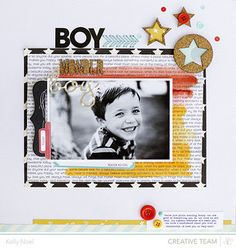 Boy Wonder by Kelly Noel  - Studio Calico Marks & Co. kit