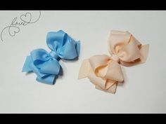 YouTube Ribbon Hair Bows, Diy Hair Bows, Hair Bow Tutorial, Save From Instagram, Boutique Bows, Bobbin Lace, Girls Bows, Lace Flowers, How To Make Bows