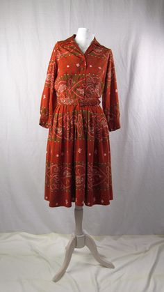 New Arrivals - 1950's Red Print Day Dress! Check it out on our website.