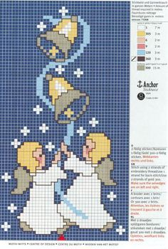 Thrilling Designing Your Own Cross Stitch Embroidery Patterns Ideas. Exhilarating Designing Your Own Cross Stitch Embroidery Patterns Ideas. Stitch And Angel, Cross Stitch Angels, Xmas Cross Stitch, Cross Stitch Cards, Cross Stitching, Cross Stitch Embroidery, Embroidery Patterns, Cross Stitch Christmas Ornaments, Christmas Embroidery