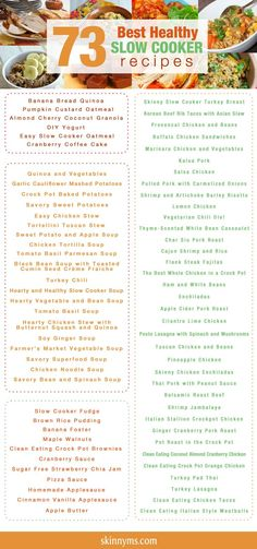 73 Best Healthy Crock Pot Recipes.  Fantastic list of recipes!! YUM!!     #food #recipes