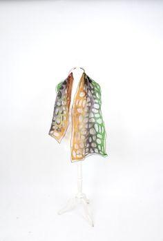 art felted scarf  felt scarf  wool silk lace  от KateRamseyFelt, $61.00