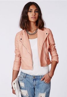 Shaina Pink Biker Jacket - Coats & Jackets - Missguided  http://www.missguidedus.com/catalog/product/view/_ignore_category/1/id/123763/