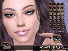 Simsworkshop: Mint eyes by Taty • Sims 4 Downloads