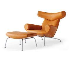 Ox-chair EJ 100 von Erik Jørgensen | Loungesessel