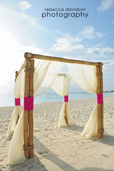 Cayman Beach wedding canopy Keywords: #weddings #jevelweddingplanning Follow Us: www.jevelweddingplanning.com  www.facebook.com/jevelweddingplanning/