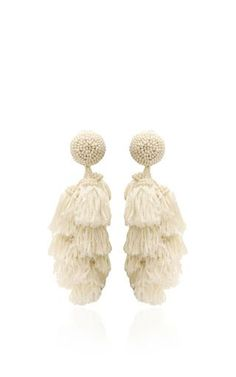 These earrings by **Sachin & Babi** feature drop construction with layered tiers of fringe.