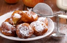 Home Plates: Homemade Apple fritters and mill town memories Apple Barn Apple Fritter Recipe, Apple Fritter Recipes, Apple Recipes, Cake Recipes, Filling Food, Apple Filling, Apple Cinnamon Muffins, Apple Fritters, Apple Butter