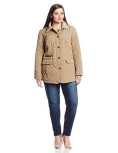 6a4d0f8b39f Jones New York Women`s Plus-Size Quilted Jacket Plus Size Lightweight Jacket