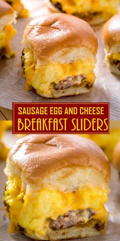 Make these Sausage Egg and Cheese Breakfast sliders the night before and just pop them into the oven when breakfast comes! EASY and super DELICIOUS breakfast sliders that may have left you wondering why you haven't discovered these earlier! Breakfast Items, Breakfast For Dinner, Breakfast Dishes, Breakfast Casserole, Healthy Breakfast Recipes, Brunch Recipes, Healthy Recipes, Savory Breakfast, Recipes With Breakfast Sausage