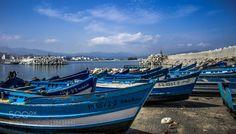Harbor by eliasharrak1  sky sea water boat travel blue clouds harbour boats harbor morocco eliasharrak1