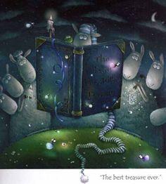 Sheeps reading, book. Rob Scrotton   Rob Scotton Art