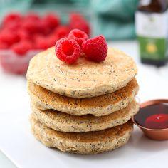 Lemon Poppyseed Pancakes | The Healthy Maven | Bloglovin'