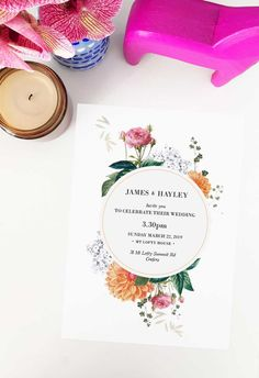 Create your dream day with these striking wedding invitations from Sail and Swan studio. Artist made and designed with love. Country Wedding Inspiration, Country Style Wedding, Botanical Wedding Invitations, Floral Invitation, Country Wedding Decorations, Peach Orange, Swan, Wedding Styles, Wedding Day