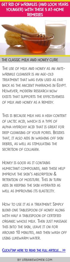 Get rid of wrinkles (and look years younger) with these 5 at-home remedies - The classic milk and honey cure