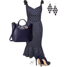 A fashion look from June 2014 featuring navy short dress, gianvito rossi shoes and leather tote purse. Browse and shop related looks. Beautiful Outfits, Cool Outfits, Fashion Outfits, Womens Fashion, White Fashion, Luxury Fashion, Clothing Websites, Dress To Impress, Nice Dresses