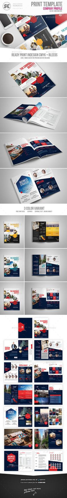 Company Profile Company profile, Brochures and Profile - professional business profile template