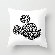 Abstract Mickey Throw Pillow by Lauren Draghetti - $20.00