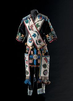 Men's beaded outfit with Bandolier Bags