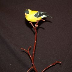 Goldfinch Wood Carving handmade hand carved by leebrowncarvings, $650.00