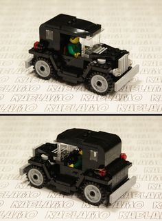 Lego MOC old-timer town car with short wheel base.