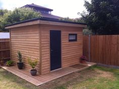A by Soundproof Music Studio in the Garden. A by Soundproof Music Studio in the Garden. Backyard Studio, Backyard Sheds, Garden Studio, Outdoor Sheds, Garden Cabins, Studio Shed, Garden Workshops, Home Studio Music, Garden Office