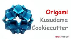 How to make a Star Ball - Kusudama Cookiecutter with square papers. Designed by Victoria Babinsky Difficulty : ★ ★ ☆ ☆ ☆ (easy) Used : . Origami And Kirigami, Origami Paper, Origami Geometric Shapes, Origami Tutorial, Easy, Youtube, Crafts, Diy Projects, Colorful