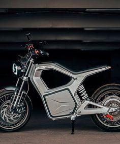 Stay Wild Motorbike FILLED CUSHION Zip Designer Black