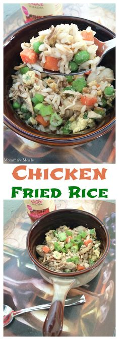 Chicken Fried Rice - it's easy, healthy and tasty to make your own takeout, and you can customize it based on what your family loves!   cupcakesandkalechips.com   gluten free recipe
