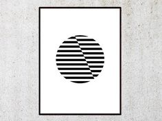 Circle geometric poster, Minimalist poster, Printable poster, Black and White Art, Office decor, doorm art, Wall prints