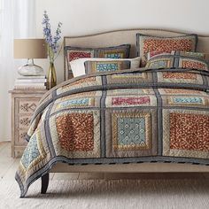 Amazon.com: Dada Bedding Collection Reversible Bohemian Real Patchwork Gallery of Roses Cotton Quilt Bedspread Set, Multi-Colored, Full, 3-Pieces: Home & Kitchen
