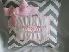Personalized,baby pillow, includes pillow cushion, 12 x 12 inches