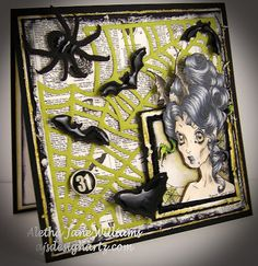 Batty Betty, designed by Rick St. Dennis, is available as a digi image at I Brake for Stamps.