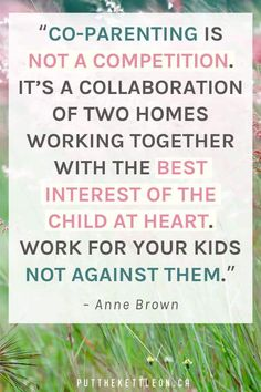 """Co-parenting quote. """"Co-parenting is not a competition. It's a collaboration o. - Co-parenting quote… """"Co-parenting is not a competition. It's a collaboration of two homes work - quotes stepmom tips with a narcissist Good Parenting Quotes, Step Parenting, Peaceful Parenting, Gentle Parenting, Parenting Humor, Parenting Advice, Parent Quotes, Parenting Teenagers, Parenting Classes"""