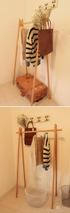 a clothes rack that seems doable