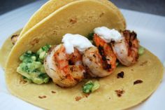 Taco Bar?  Yes please!  Spicy Shrimp Tacos take it up a notch!