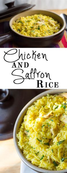One Pot Chicken and Saffron Rice Chicken Saffron Rice - Erren's Kitchen - This recipe for Chicken and Saffron Rice is a simple one pot dish that is packed full of flavor!Saffron (disambiguation) Saffron is a spice. Saffron may also refer to: One Pot Dishes, One Pot Meals, Food Dishes, Easy Meals, Side Dishes, Saffron Recipes, Saffron Rice, Cooking Recipes, Healthy Recipes