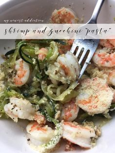 Shrimp and Zucchini Pasta | Perfect for if you are doing the Take Shape For Life program and need a Lean and Green meal.