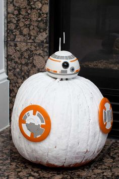 This fall transform a pumpkin into BB8!! Check out this awesome Star Wars Birthday Party for more great ideas!! See more party ideas and share yours at CatchMyParty.com