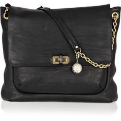 Lanvin Happy Large leather shoulder bag ($1,435) ❤ liked on Polyvore