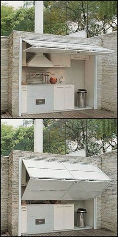 Outdoor kitchen design ideas / bar - Find and save ideas about Outdoor kitchen Ideas on steeringnews.com | See more ideas about Outdoor kitchen layout , Outdoor Kitchen Floor Plans and How to Build Modern Outdoor Kitchen #outdoorkitchens #kitchendesignlayout