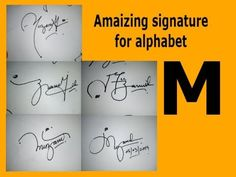 Amaizing Signature For Alphabet M Name Signature, Calligraphy Drawing, Drawing Tutorials For Beginners, Alphabet Design, Cursive, Tarot, Names, Lettering, Youtube