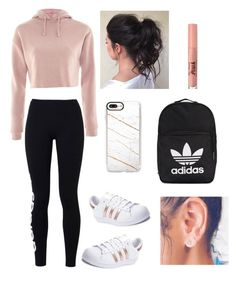 """Untitled #79"" by haileymagana on Polyvore featuring Topshop, adidas Originals, adidas, Casetify and Too Faced Cosmetics"