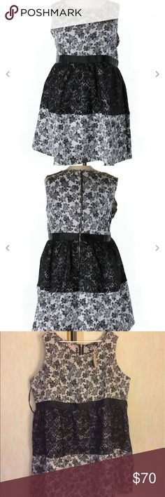 🆕 (3X) Modcloth  Doe & Rae Floral Dress Zipper enclosure on the back. From Modcloth  *Brand: Doe & Rae *Color: Black & White *Condition: New with tags *Material: 100% polyester   *Size: 3X *Bust Size: Approximately 50 inches. Not stretchy!  *Length: Approximately 37 inches long.   ♥ I am from a smoke free home.  ♥ I have cats and a dog. I always make sure my clothing is fur free, but sometimes there could be a stray hair or two left. ModCloth Dresses