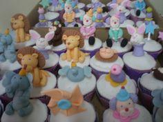 Cupcake circense em 3 D modelagem