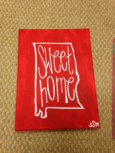 Sweet home alabama canvas #diy #crafts #alabama always will be my home