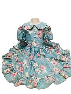 Would be a great dress for toddler, but will be need to be taken in at waist and chest since larger. Vintage Girls Dresses, Girls Easter Dresses, Eastern Dresses, Wedding Sash, Toddler Dress, Spring Dresses, Spring Wedding, Peter Pan, Opal